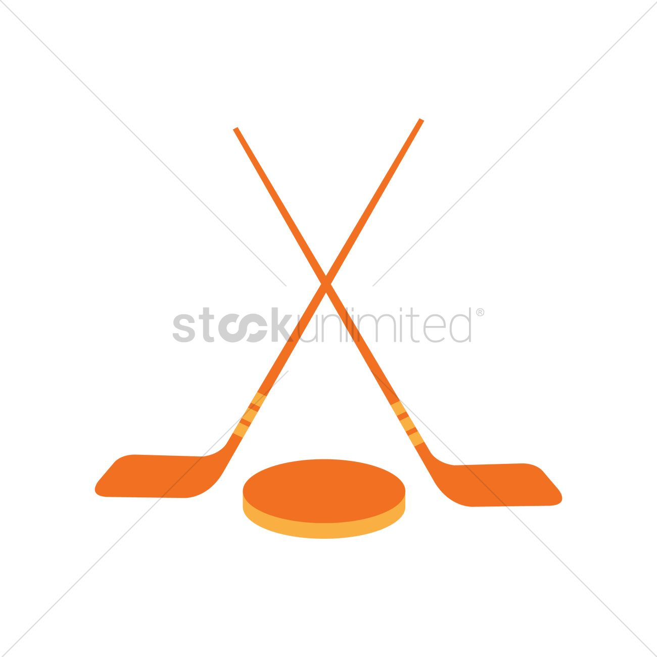 Hockey puck and stick clipart