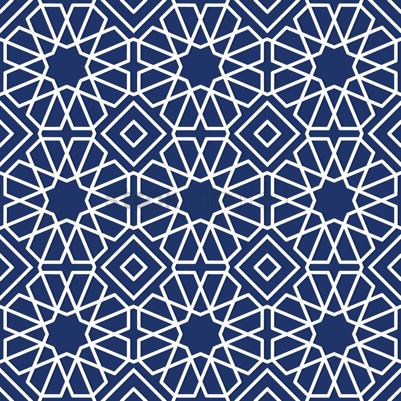 islamic geometric pattern design vector image 1979675