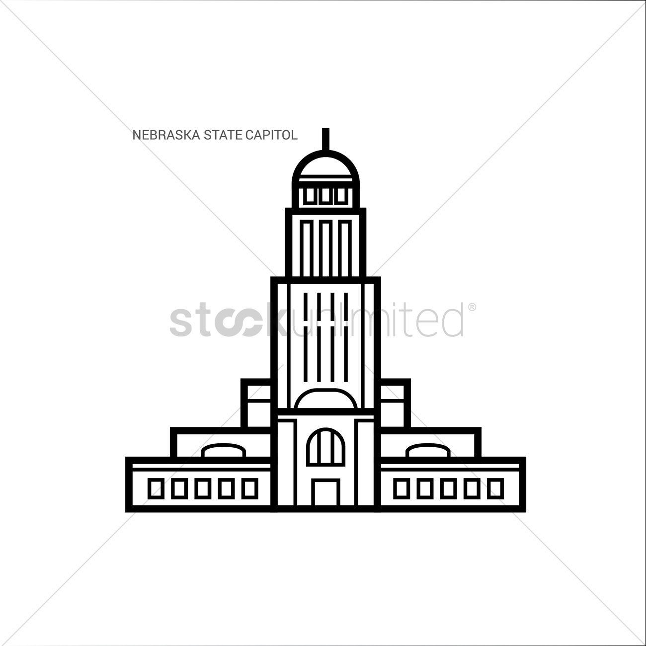 Nebraska state capitol Vector Image - 1551871   StockUnlimited