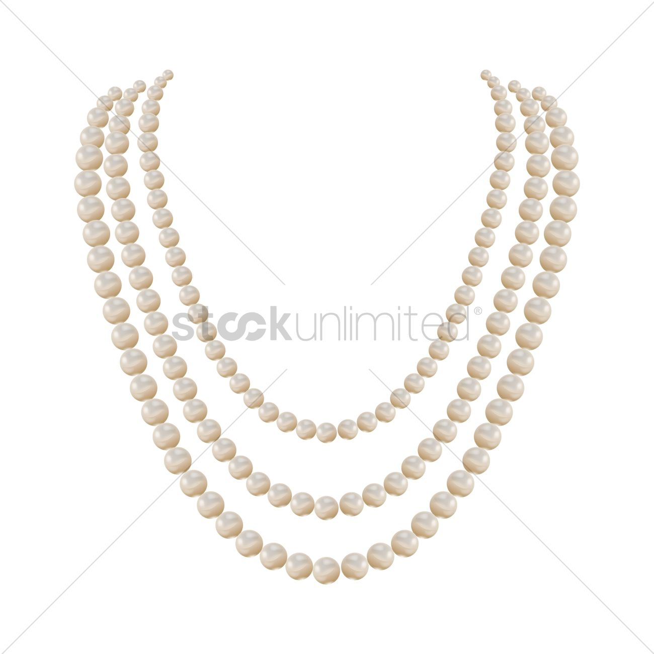 Pearl Necklace Vector Graphic