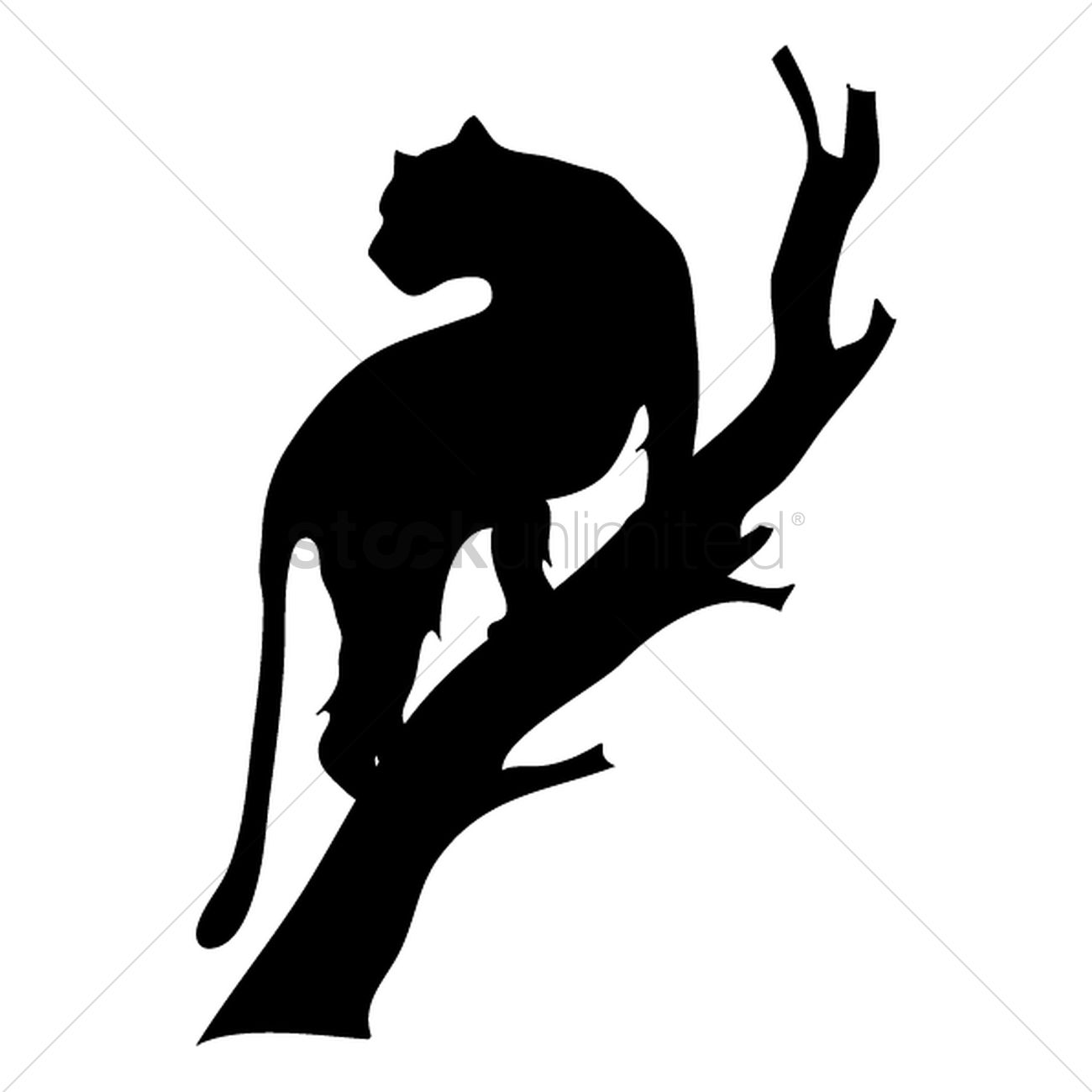 silhouette of tiger on tree vector image 1501679 panther clip art cheer panther clip art svg