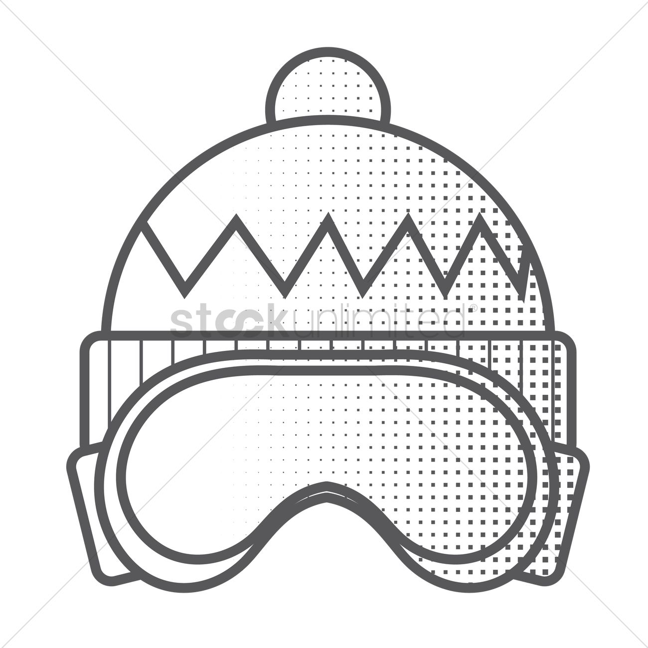 Winter Hat And Ski Goggles Vector Image