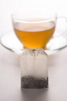 A cup of tea and teabag