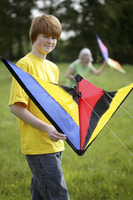 Boy holding a kite
