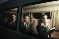 Business people in a van