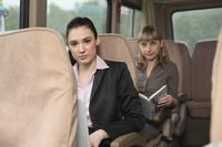 Businesswomen in a van