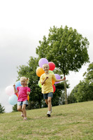 Children with balloons