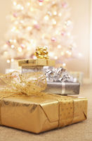 Popular : Christmas gifts on floor