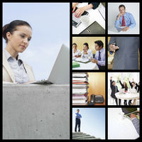Popular : Collage of business people