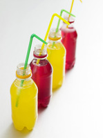 Colored soft drinks