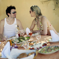 Couple enjoying their meal