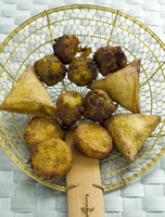 Deep-fried indian snacks