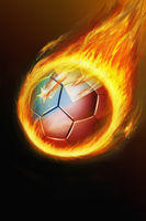 Flaming chile soccer ball