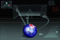 Penalty kick infographic with australia soccer ball