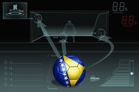 Penalty kick infographic with bosnia and herzegovina soccer ball