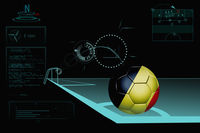 Taking a corner infographic with belgium soccer ball