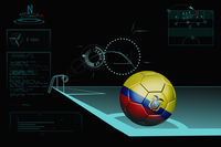Taking a corner infographic with ecuador soccer ball