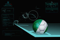 Taking a corner infographic with nigeria soccer ball