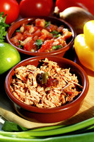 Tuna flakes and tomatoes