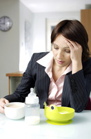 Working parent suffering from emotional stress
