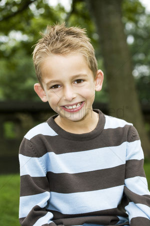 Park Outdoor : Boy smiling at the camera