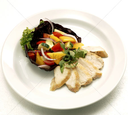 Food : Roasted chicken and vegetables