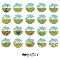 A collection of agriculture icons