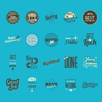 A collection of hand letterings