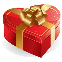 Popular : A heart shape gift box