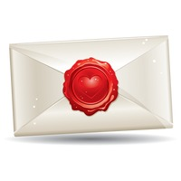 Popular : A letter sealed with a hearts shape wax