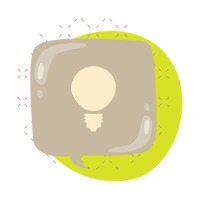 Popular : A light bulb in a speech bubble
