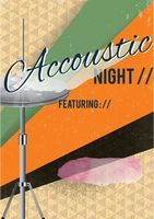 Acoustic night poster design