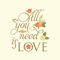 All you need is love typography design