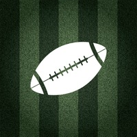 American football ball on striped background