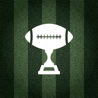 American football trophy on striped background