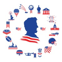 American themed icons