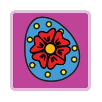 Popular : An easter egg over purple background
