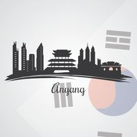 Anyang skyline silhouette
