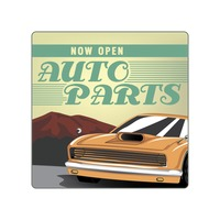 Automobile store open sign