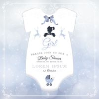 Baby shower honouring card