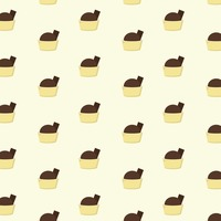 Popular : Background with mini chocolate desserts