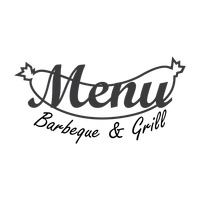 Barbeque and grill menu logo icon