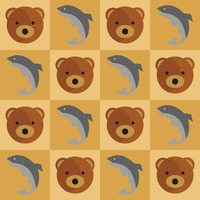 Bear and fish background