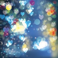 Bokeh hearts background
