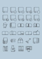 Book icon collection
