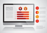 Business infographic on employee ratings