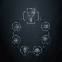 Popular : Business strategy icons set