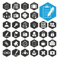 Business work icon collection