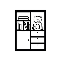 Cabinet With Toy And Books