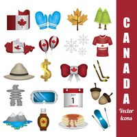 Popular : Canada vector icons pack